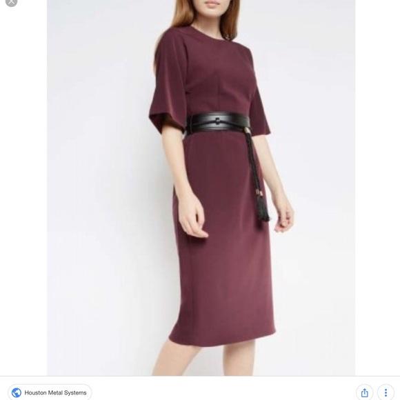 842f381650fea Lemar Belt Detail Dress Dark Red. M 5b25772f9fe486ece361766a